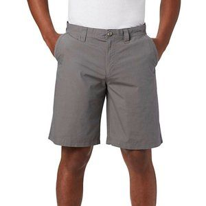 Columbia Mens 34 10L Washed Out Shorts Gray Cotton